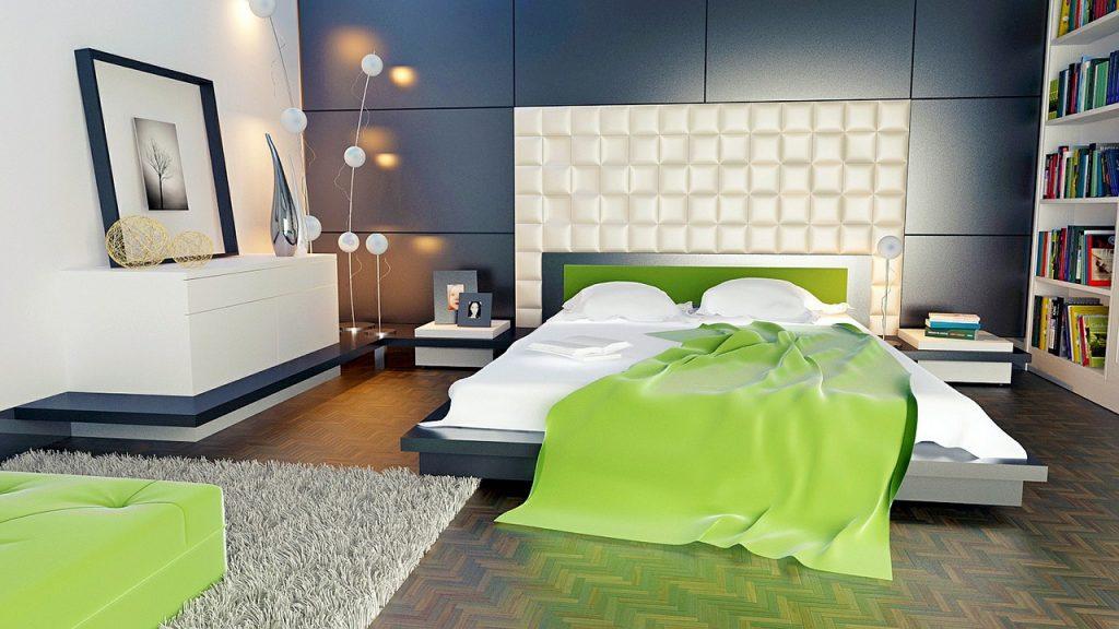 exemple d'une bonne orientation de lit (face a la porte)